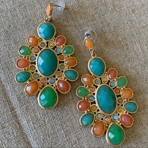 Multi colored summer drop earrings